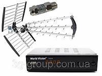Комплект Т2 World vision T62A + антенна Eurosky ES-009 с усилителем Sky 22 dB, фото 1