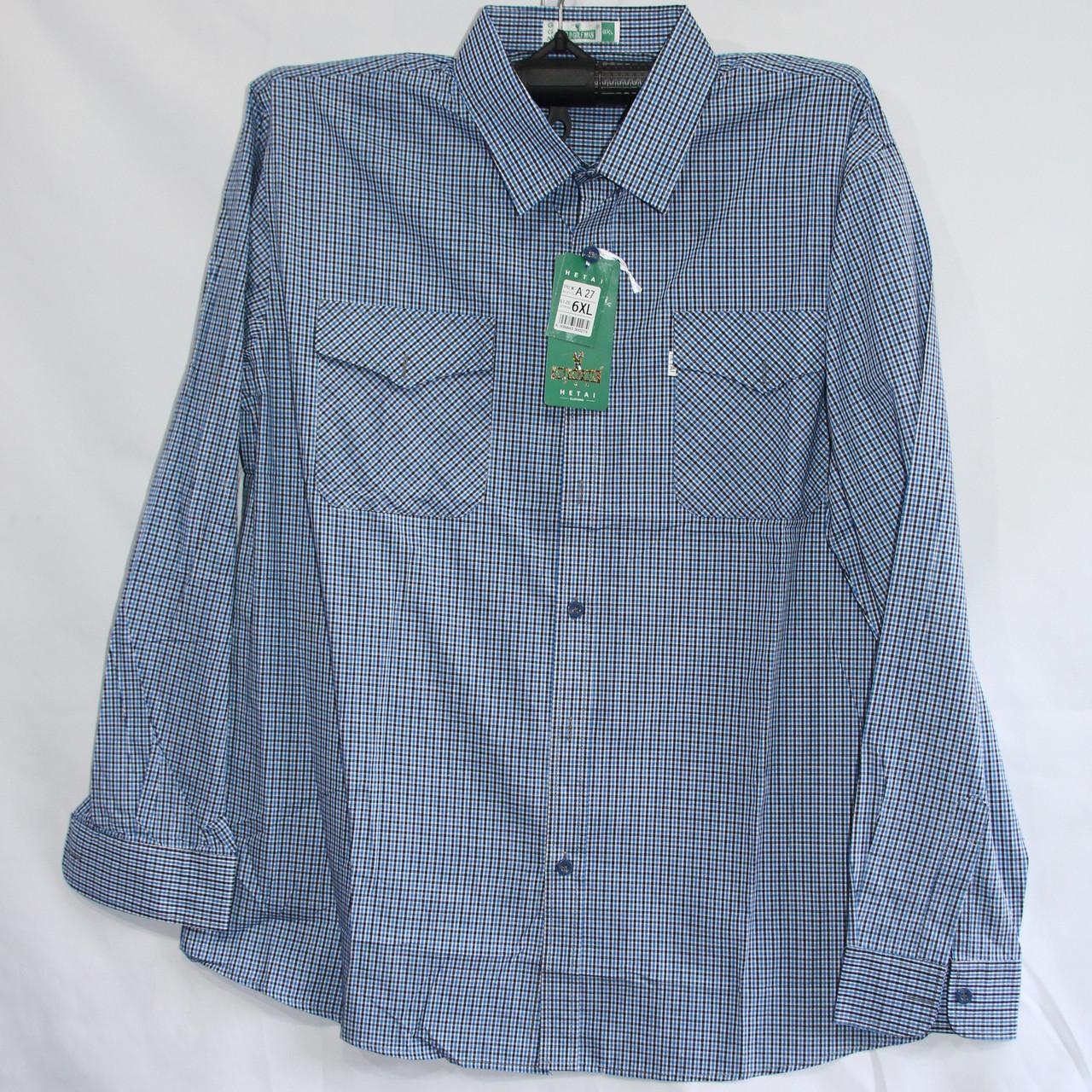 Чоловіча сорочка сорочка Батал (довгий рукав) оптом зі складу в Одесі
