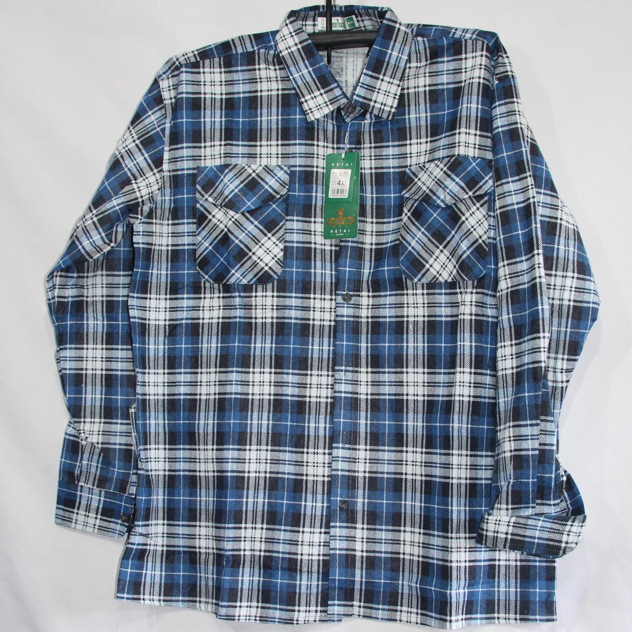 Мужская байка рубашка (длинный рукав) оптом со склада в Одессе
