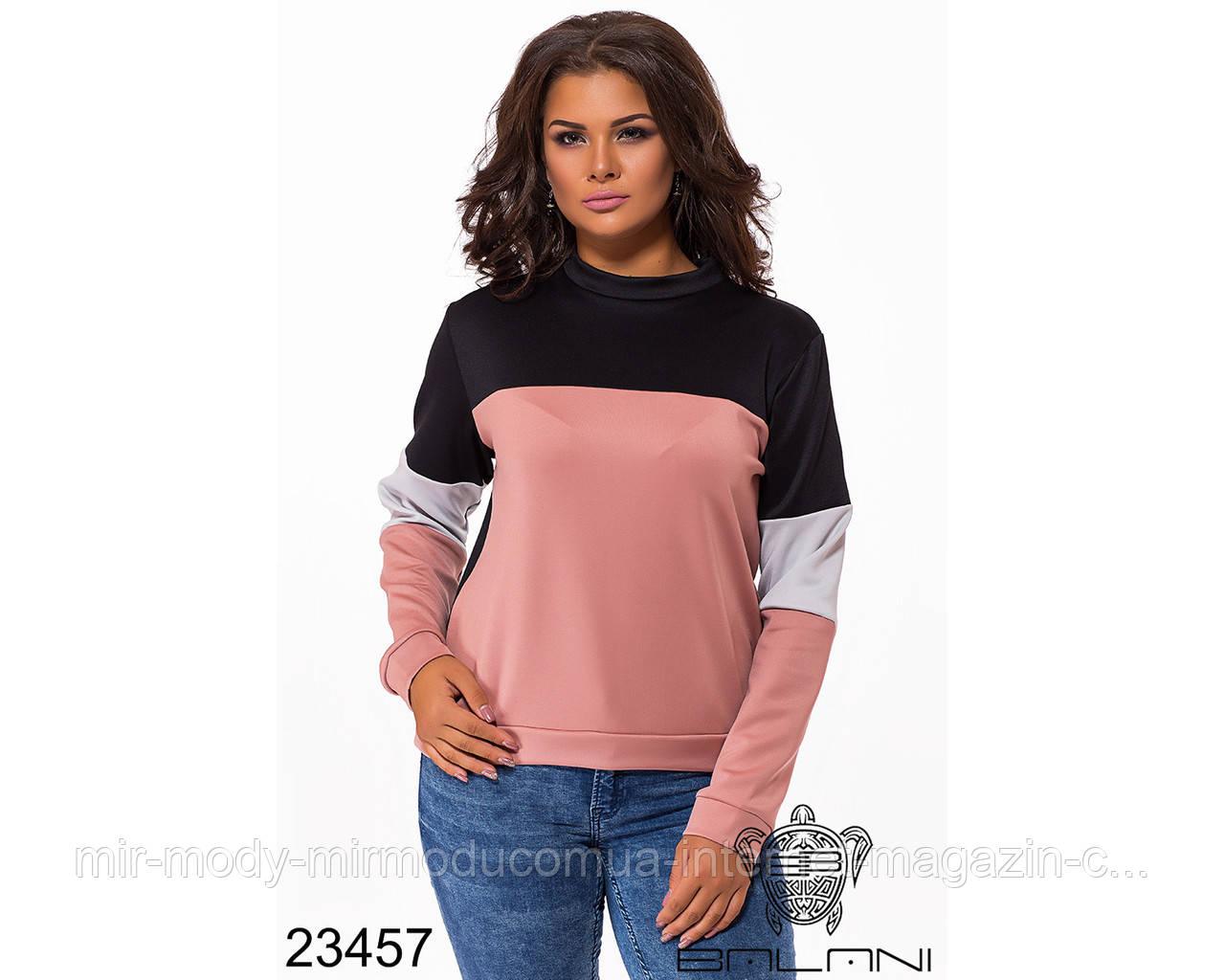Стильный свитер- 23457 с 48 по 52 размер  (бн)
