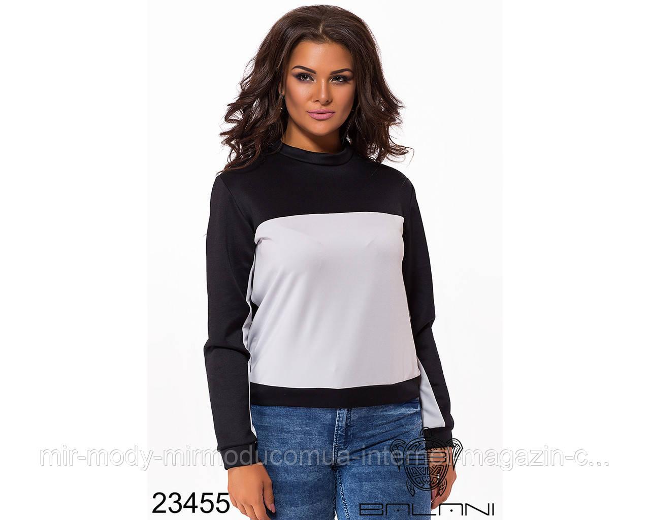 Стильный свитер- 23455 с 48 по 52 размер  (бн)