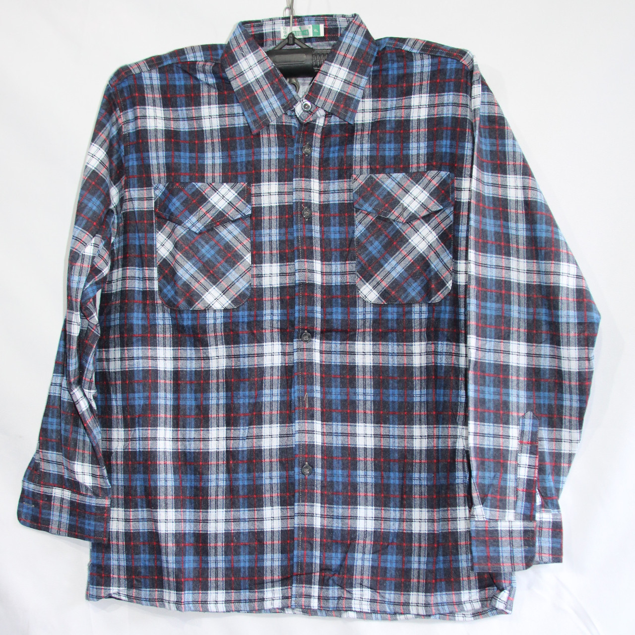 Мужская байка рубашка Батал (длинный рукав) оптом со склада в Одессе