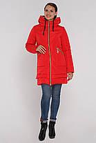 Модная  женская куртка с серебристым капюшоном капюшоном (46-56), доставка по Украине, фото 3