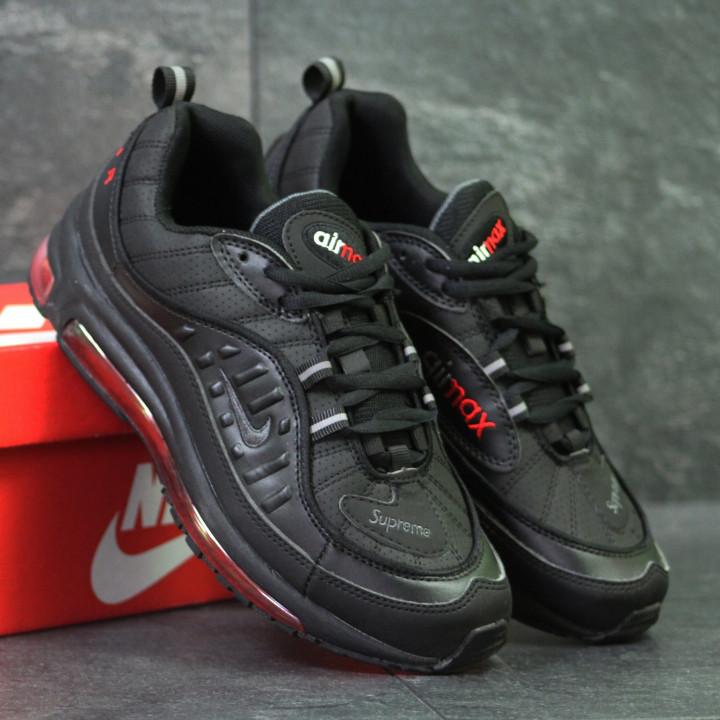 259e603d Мужские кроссовки Nike Air Max 98 x Supreme 6170 чёрно красный цвет -  Интернет-магазин
