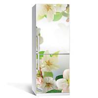 Интерьерная наклейка на холодильник Цветы вишни самоклеющаяся пленка 650*2000 мм глянцевая с ламинацией