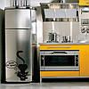 Интерьеная наклейка на холодильник Строгий кот матовая 430х500 мм