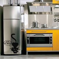 Интерьеная наклейка на холодильник Строгий кот матовая 430х500 мм, фото 1