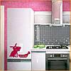 Интерьерная наклейка на холодильник Счастливый пес матовая 270х600 мм