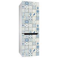Виниловая наклейка на холодильник Керамическая плитка (пленка самоклеющаяся)