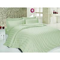 Комплект постельного белья SoundSleep Stripes сатин-жаккард евро мятный