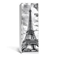Виниловая наклейка на холодильник Эйфелева башня ламинированная двойная (пленка самоклеющаяся)