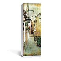 Виниловая наклейка на холодильник Прованс 01 ламинированная двойная (пленка самоклеющаяся)
