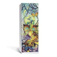 Акция Весна! Виниловая наклейка на холодильник Батик ламинированная двойная