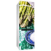 Виниловая наклейка на холодильник Спаржа (самоклеющаяся пленка фотопечать) 600*2000 мм глянцевая без ламинации, фото 1