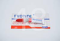 Суперклей Evotite 3 г (для склеивания кожи, дерева, металла, резины и керамики)