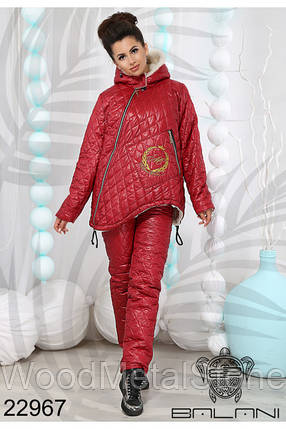 Зимний женский костюм на меху(42-46 р), доставка по Украине, фото 2