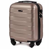 Ударостойкий ! Самый малый чемодан из поликарбоната WINGS 401 CARBON  CHAMPANING. 2123fe9e579