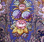 Миндаль 1369-13, павлопосадский платок (шаль) из уплотненной шерсти с шелковой вязанной бахромой, фото 7