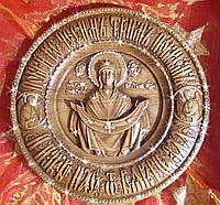 Икона Покрова Божьей Матери в камнях Swarovski