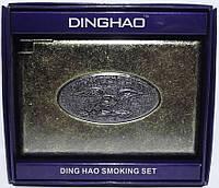 Портсигар металлический с зажимом (старая бронза) PR7-60