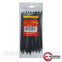 Хомут пластиковый 4,8x300мм, (100 шт/упак), черный