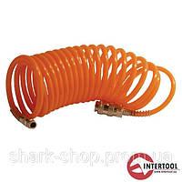 Шланг спиральный с быстроразъемным соединением 10м