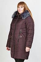 Пуховик зимний женский(48-54) с капюшоном, доставка по Украине