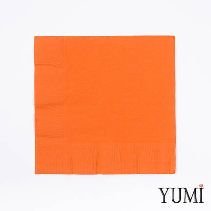 Салфетка Orange Peel оранжевая 33 см / 20 шт, фото 2