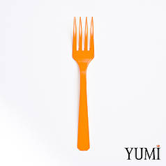 Вилка пластмассовая Orange Peel оранжевая 10 шт. Amscan