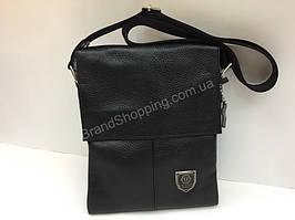 0f1cf9b98f3b Мужская сумка Philipp Plein через плечо из натуральной кожи 24см арт 201481