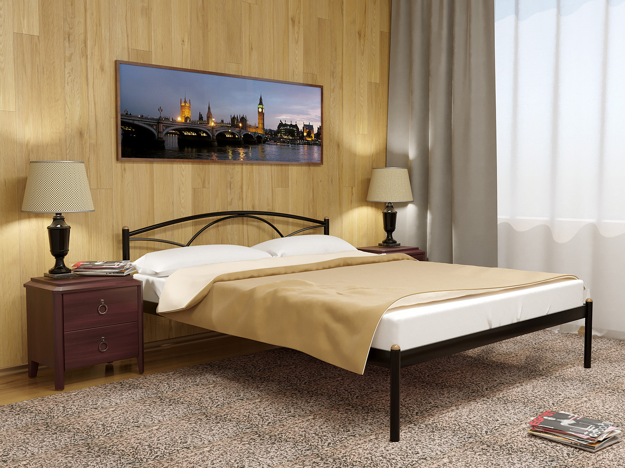 Кровать металлическая Палермо-1 (Palermo)