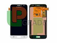 Дисплей для Samsung J120H Galaxy J1 (2016) + тачскрин, белый, OLED, копия хорошего качества