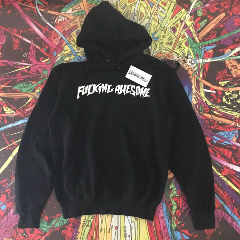 Худі Fucking Awesome • Чорна толстовка чоловіча і жіноча • Топ бренд