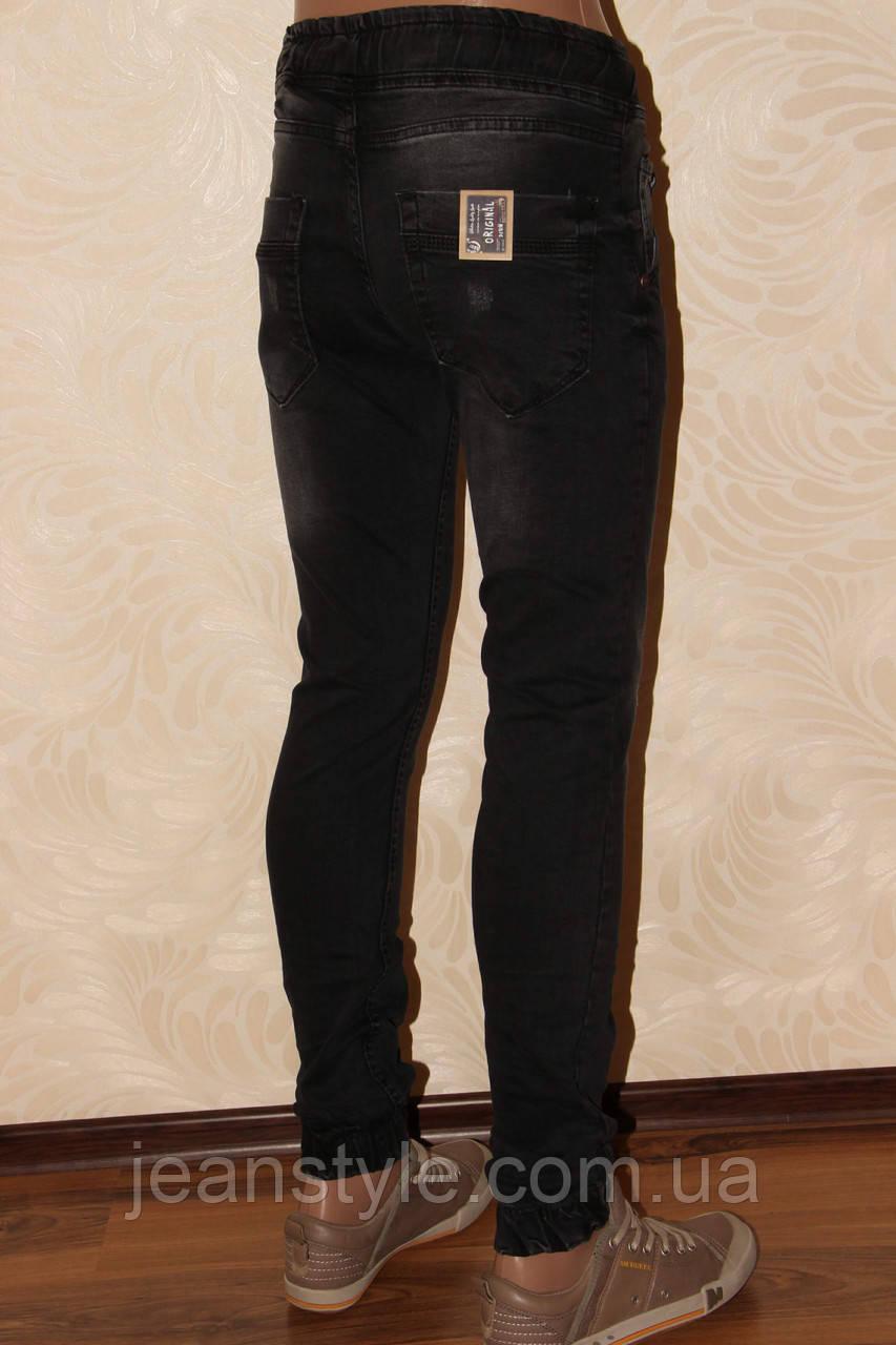 """441f7a9c405 Купить Мужские джинсы """"Redcode"""" Чёрные с потертостями внизу манжет ..."""