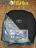 Чохли на сидіння (Тернопіль) LANOS (синя вставка) з логотипом! (ФОТО ЗРАЗОК!), фото 1