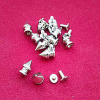 Шип винтовой никель 50шт (13х8мм)