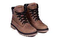 Мужские зимние кожаные ботинки Timberlend crazy shoes, фото 1
