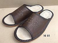 Тапочки мужские открытые, кожа, фото 1