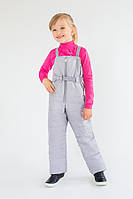 Дитячі зимові штани-напівкомбінезон для дівчинки, фото 1