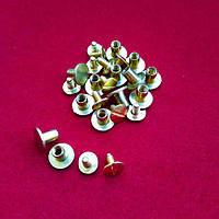 Винт ременной золото 50шт (10х6мм)