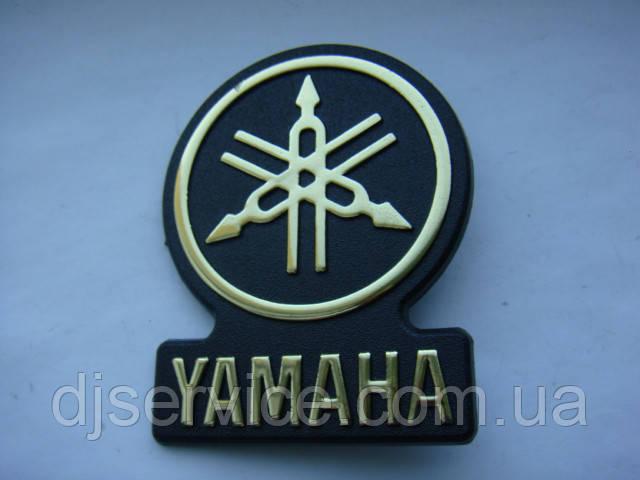 Шильдик, наклейка, логотип Yamaha 53mm на сетку колонки
