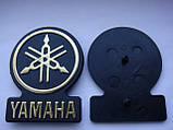 Шильдик, наклейка, логотип Yamaha 53mm на сетку колонки, фото 5
