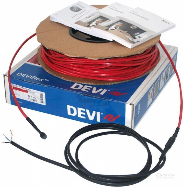 Нагревательный кабель двужильный со сплошным экраном DEVIflex™ 18T, 1220 Вт, 68.00 м