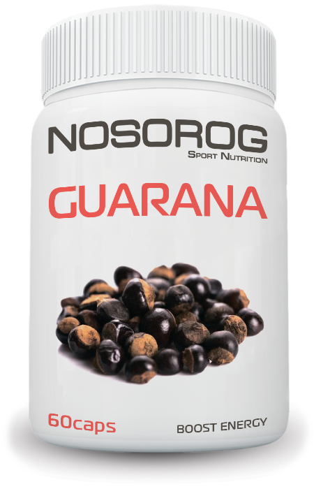 NOSOROG Guarana 60 caps (500 мг на капсулу; для бодрости; энергетик)