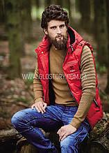 Мужская жилетка в трех цветах с капюшоном Glo-Story