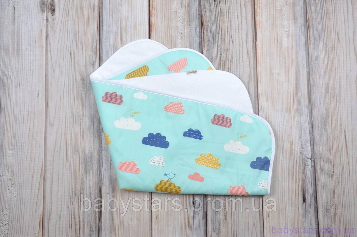 Пеленка непромокаемая для детей (размер 60*80 см), Цветные облака
