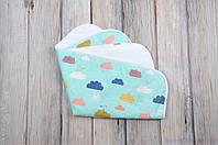 Пеленка непромокаемая для детей (размер 60*80 см), Цветные облака, фото 1