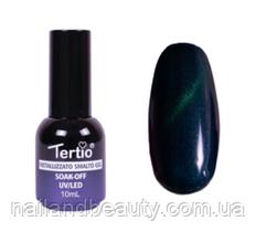 Гель-лак №010 (синий магнитный) кошачий глаз 10 мл Tertio