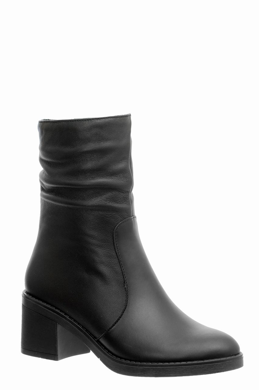 Женские кожаные ботинки TIFFANY на среднем каблуке