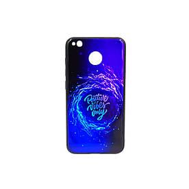 Чехол накладка для Xiaomi Redmi 4X силикон+закаленное стекло, Positive Vibes only